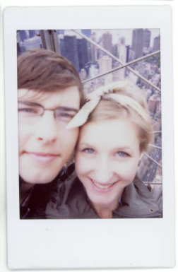 A polaroid of Trout and I at the top of the Empire State building in 2012