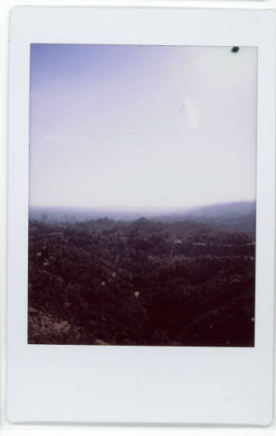 Polaroid of the view across LA